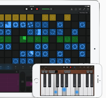 Apple updates GarageBand for iOS with Live Loops, inspired