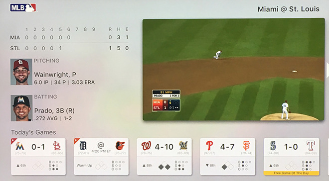 MLB com updates At Bat with tvOS features promised at 4th-gen Apple