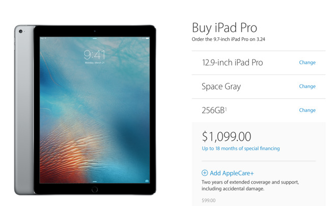 Apple Offers Larger 256gb Capacity For Both 9 7 12 9 Ipad Pros
