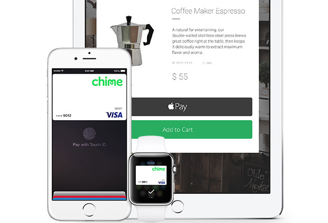 Apple Pay gains support for Chime online bank, Chase offers free