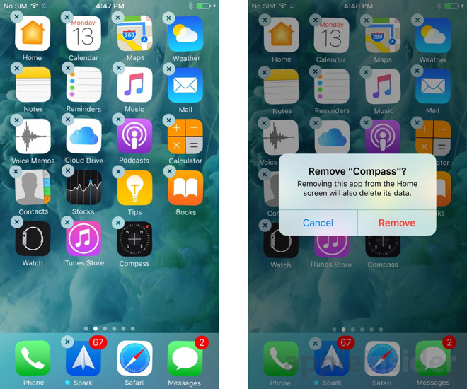 iOS 10 will allow deleting first-party apps cluttering