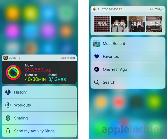 Inside iOS 10: 3D Touch-enabled home screen widgets sidestep