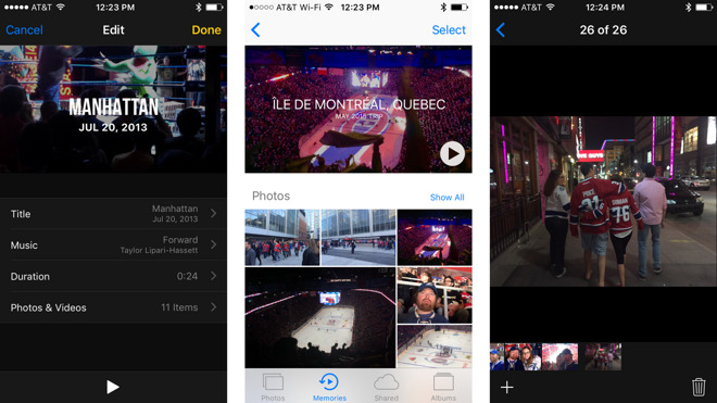 Inside iOS 10: Photos Memories will generate slideshow movies