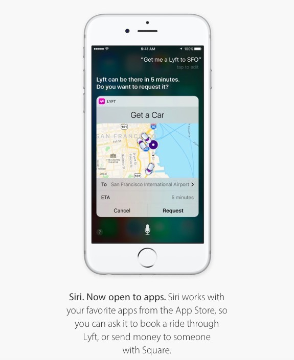 iOS 10 cracks open Apple's Siri voice assistance to third party apps