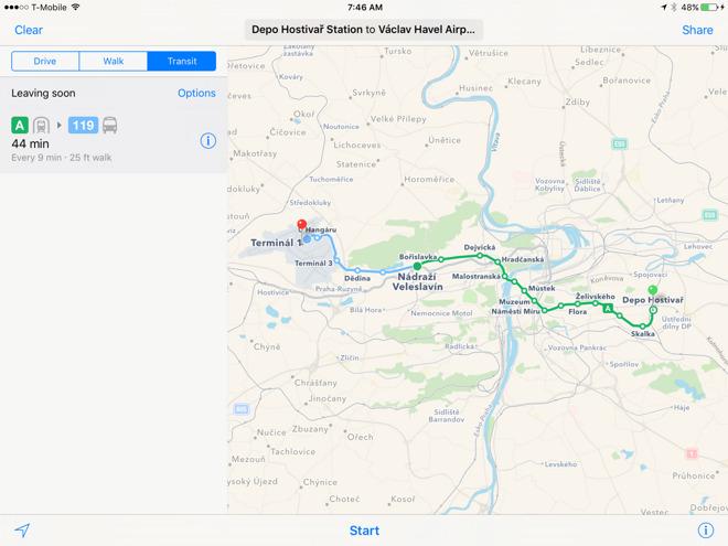 Apple brings Maps transit coverage to Prague in Czech Republic