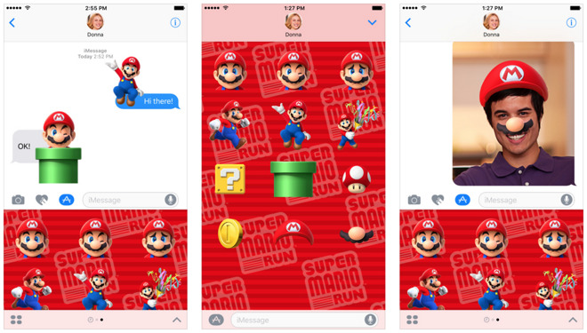 Super Mario Run Stickers for iOS 10 iMessages now available