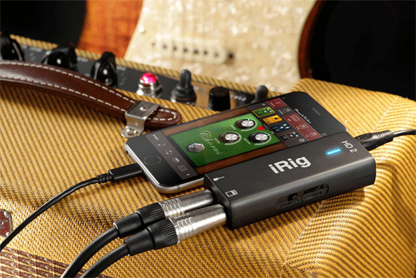irig hd 2 lets you connect guitar headphone to apple 39 s iphone via lightning. Black Bedroom Furniture Sets. Home Design Ideas