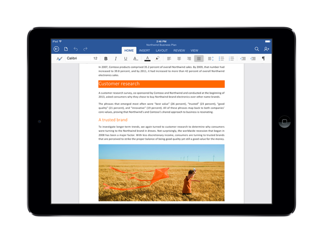 excel for ipad free