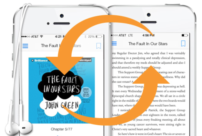 Amazon Kindle app for iPad & iPhone gains Audible audio book