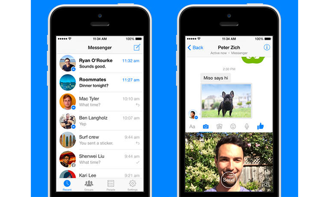 Facebook updates Messenger with instant video sending and