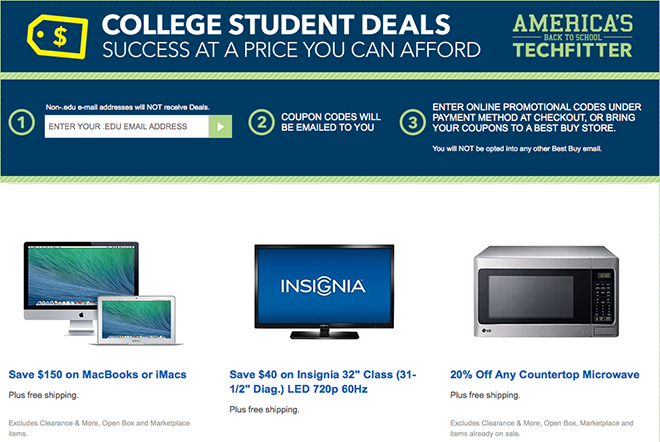 best buy apple student discount coupon