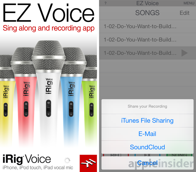 Review: iRig Voice microphone and EZ Voice app for iOS