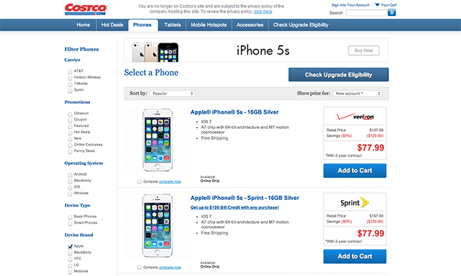 low priced e961a aef34 Apple products return to Costco with deep discounts for iPhone and iPad