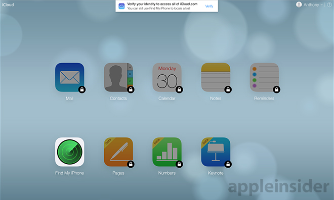 Apple rolls out two-step verification for iCloud com Web apps