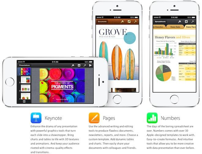 Apple profiles free iWork, iLife apps with iOS 7-style icons