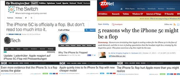 Apple's iPhone 5c 'failure flop' outsold Blackberry, Windows