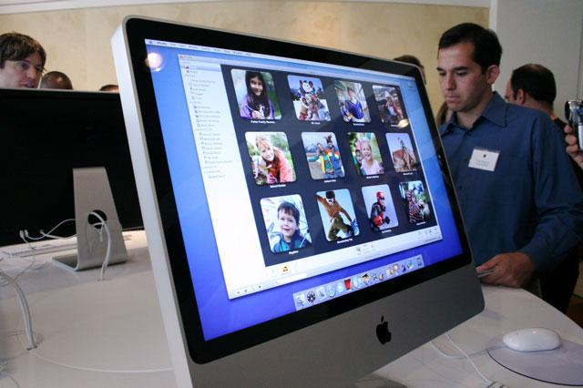 Apple's 2007 iMac line and keyboards