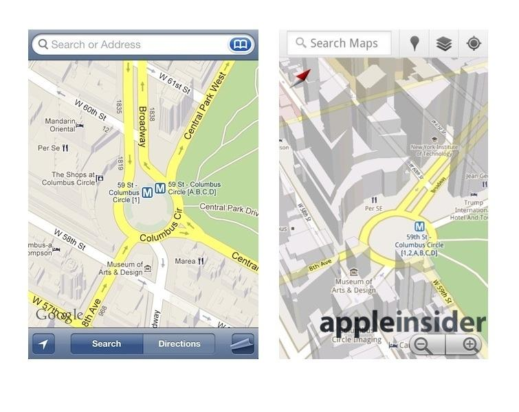 Apple S Ios 7 3d Maps Leave Google Earth Nokia Maps 3d Looking Old