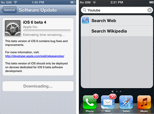 Apple removes YouTube app from iOS with beta 4 release of iOS 6 [u]