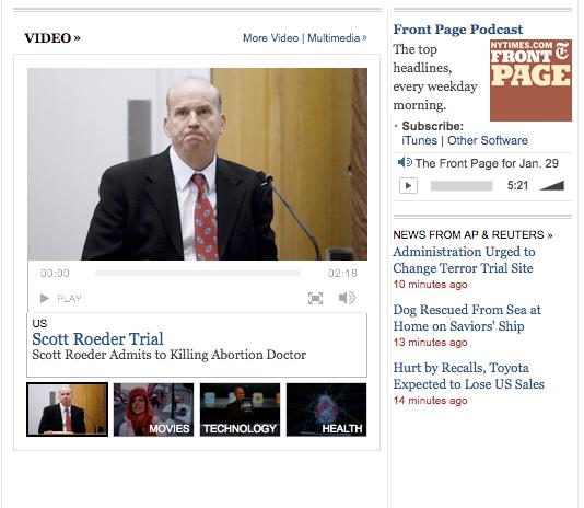 NYTimes Video Mac