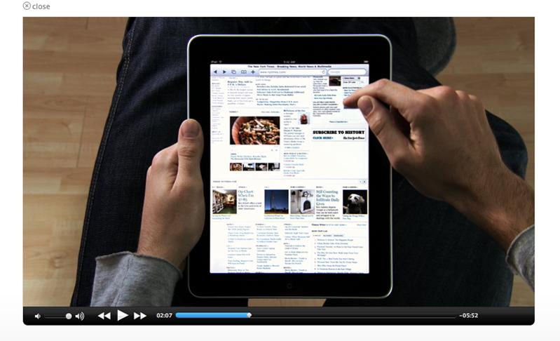 NYTimes Video iPad