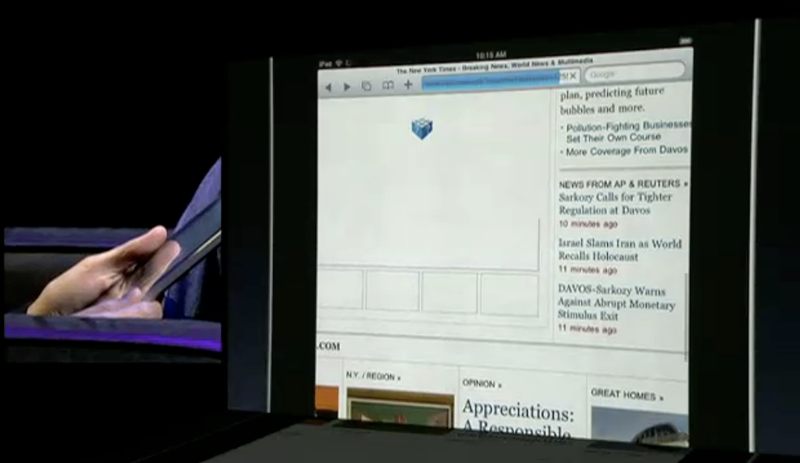 NYTimes Video iPad live
