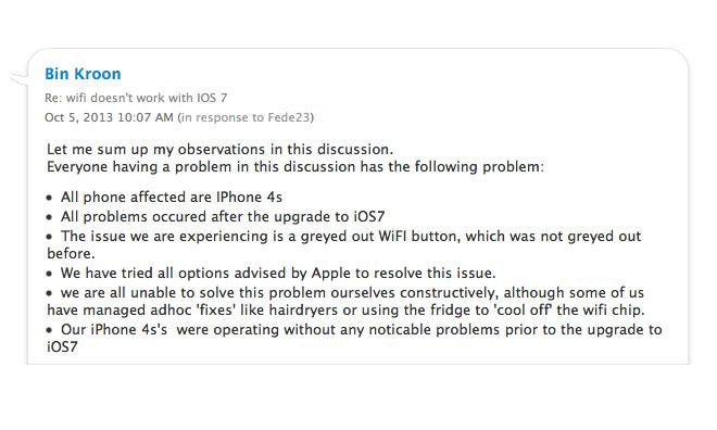 iOS 7 update brings more Wi-Fi issues for some iPhone 4S owners