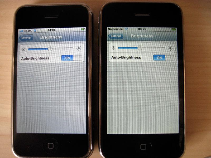 Apple iPhone 3G Yellow Tinted Screens