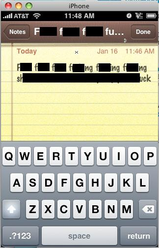 iPhone's autocorrection overwritten