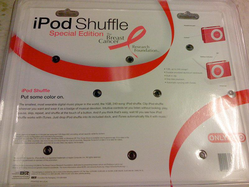 Special Edition pink iPod shuffle