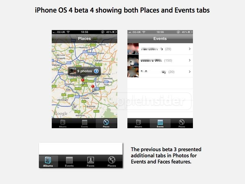 iPhone OS 4 b4 Events Places