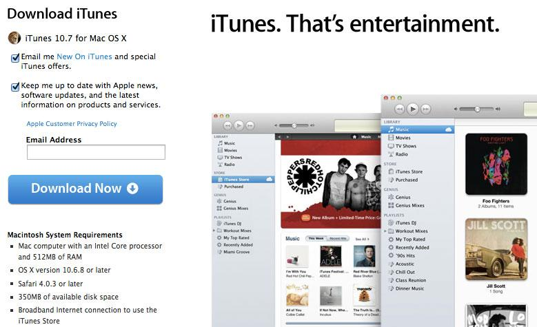 Apple releases iTunes 10 7 with support for iOS 6