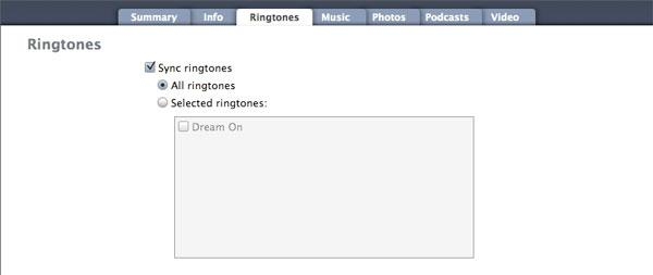 iTunes Ringtones
