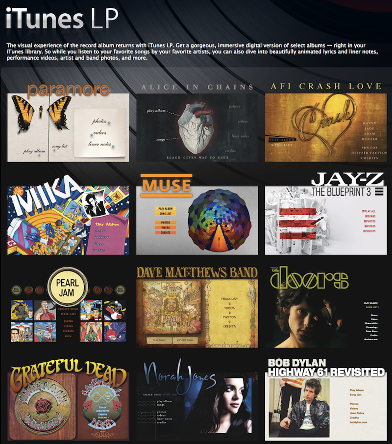 Apple criticized over itunes lp development costs itunes lps malvernweather Images