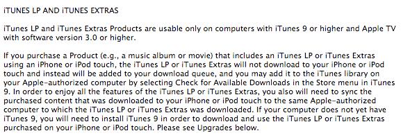 iTunes LP Apple TV 2