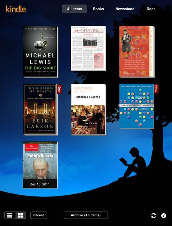 Kindle iPad app adds Amazon Newsstand, Google Voice for