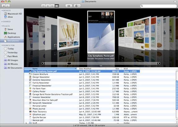 Road to Mac OS X Leopard: Finder 10 5