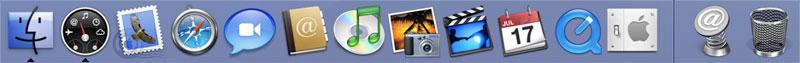 Mac OS X Leopard Dock