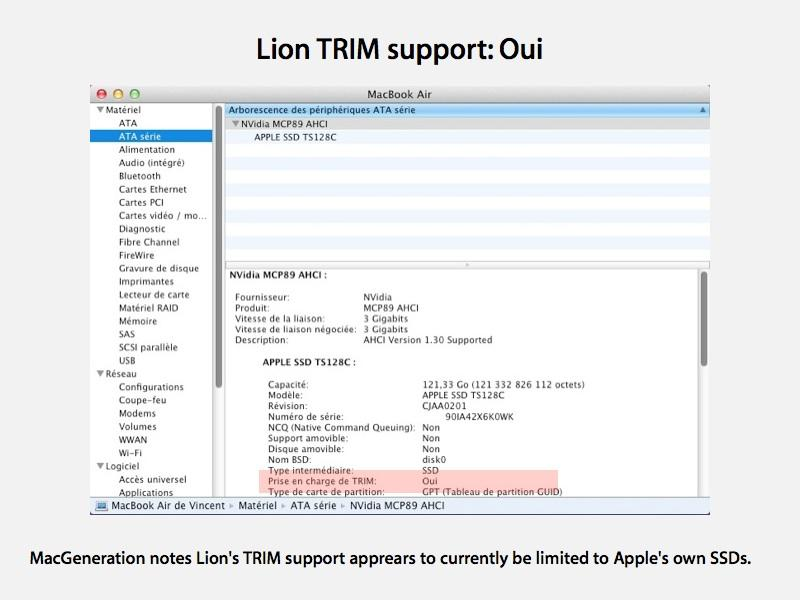 Activating TRIM for SSDs on MAC OSX Lion