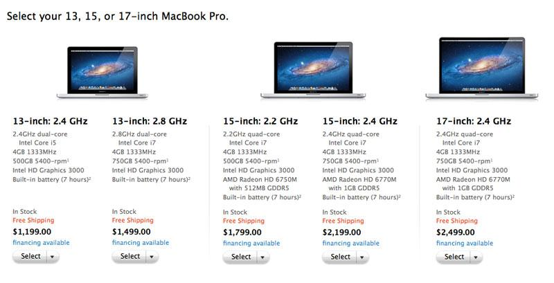 Apple quietly updates MacBook Pro lineup with faster CPUs