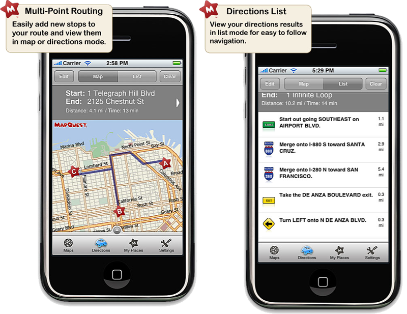MapQuest unveils alternative to Google Maps for iPhone on