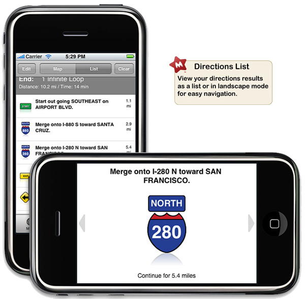 MapQuest 4 Mobile for iPhone