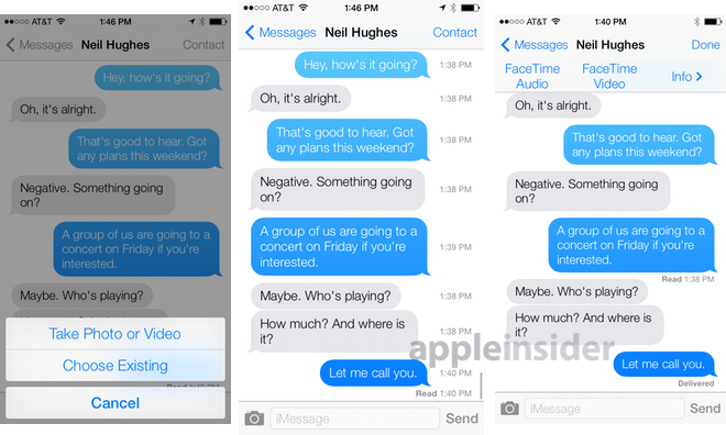 how to send group message on iphone inside ios 7 messages adds chat user pics 20298