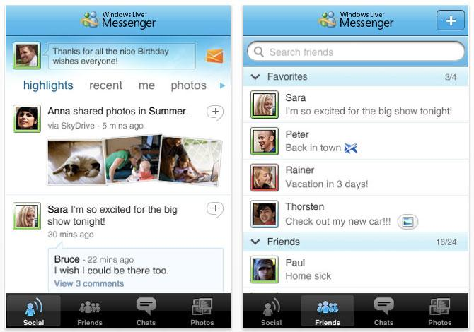 Windows Live Messenger arrives for iPhone, Swype to talk ...