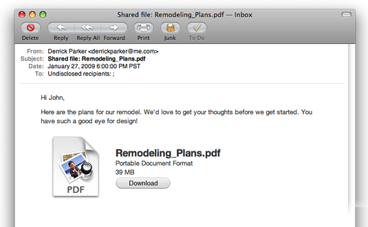 MobileMe file sharing