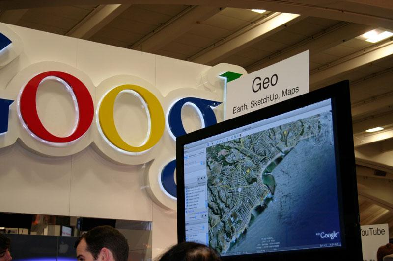 Google's booth at Macworld Expo 2008