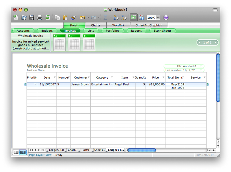 Excel 2008