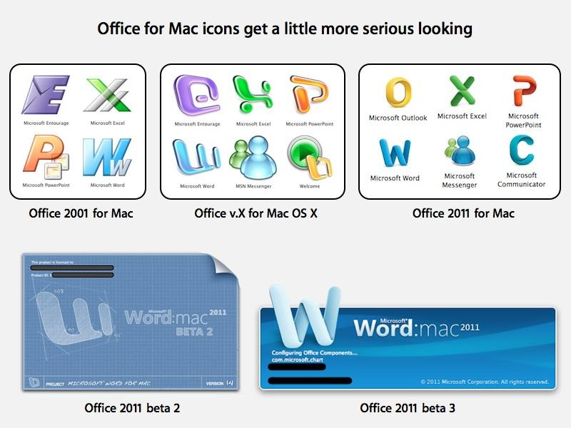 Microsoft's Office 2011 beta 3 for Mac gets new icons
