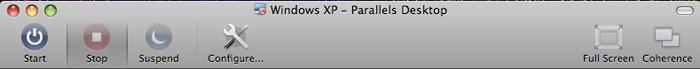 Parallels 4 toolbar