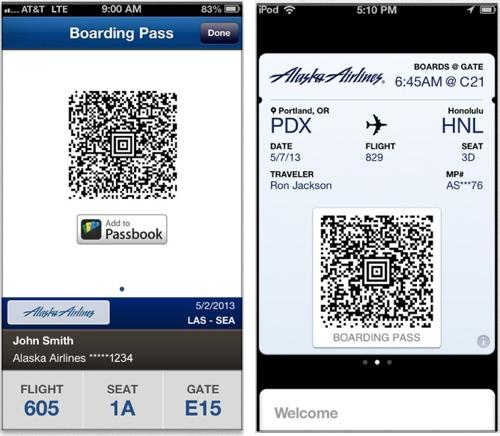 Alaska Airlines Adds Apple Passbook Support For Boarding